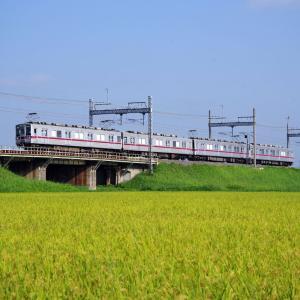 東武鉄道日光線 稔りの頃の10000系