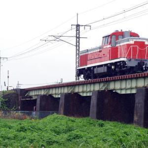 水戸線 第2思川橋梁のDE11