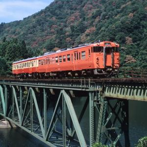 米坂線 なつかしの列車(205)第1荒川橋梁の国鉄色