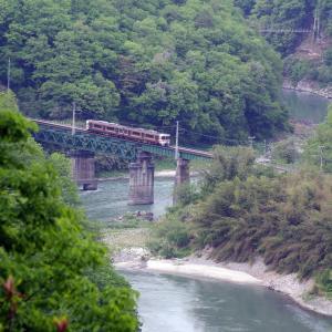 飯田線 天竜川橋梁ーそらさんぽ天竜峡