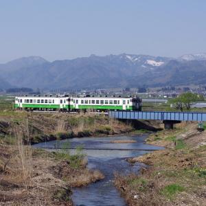 只見線 赤沢川橋梁の春