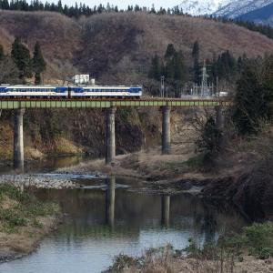 只見線 破間川橋梁の冬枯れ