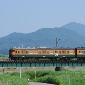 越後線 信濃川分水橋梁のサイド