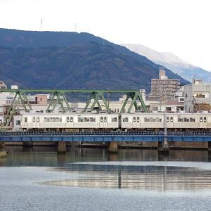 静岡鉄道 巴川橋梁の1000系