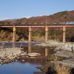 秩父鉄道 荒川橋梁の貨物
