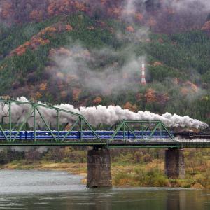 磐越西線 深戸橋梁の秋