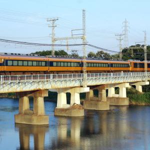 近鉄山田線 櫛田川橋梁の特急