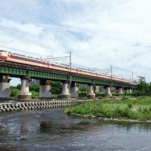 中央線 多摩川橋梁の国鉄色183系