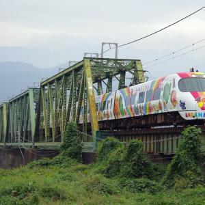 予讃線 中山川橋梁のアンパンマン号