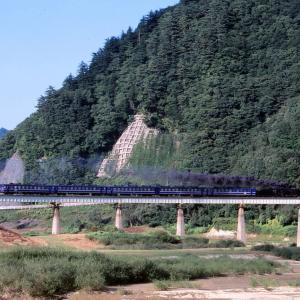 北上線 なつかしの列車(227)第1和賀川橋梁(新)D51