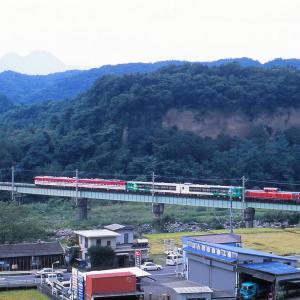 吾妻線 なつかしの列車(228)第1吾妻川橋梁の風っこ
