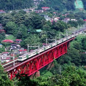 東海道本線 なつかしの列車(233)白糸川の踊り子号