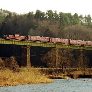 磐越西線 なつかしの列車(234)一の戸橋梁50系