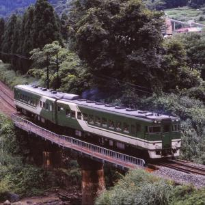 大糸線(北) なつかしの列車(235)中小谷川橋梁
