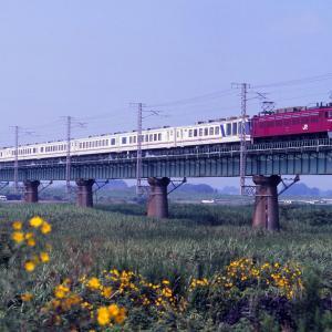 水戸線 なつかしの列車(236)鬼怒川橋梁の「やすらぎ」