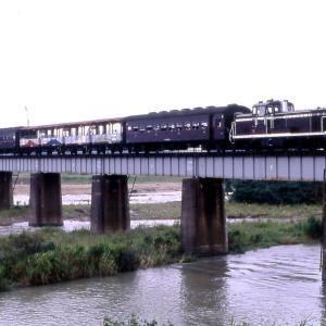 八高線 なつかしの列車(241)多摩川橋梁のトロッコ