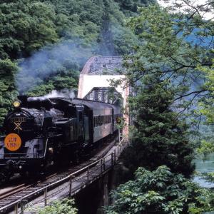 只見線 なつかしの列車(245)第4只見川橋梁の夏