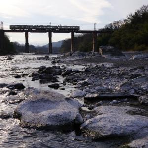秩父鉄道 荒川橋梁の5000系