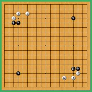 第44期囲碁棋聖戦 1!