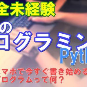 Pythonで学ぶ「プログラミング入門」YouTube動画
