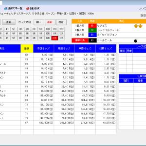競馬ソフトにお任せ・12/15(日)の競馬計画