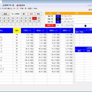 競馬ソフトにお任せ・6/7(日)の競馬計画