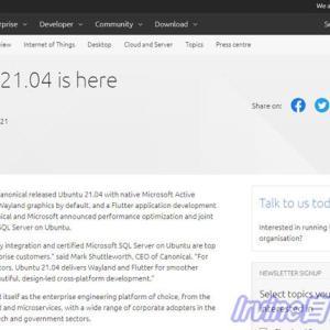 投稿のおしらせ Ubuntu 21.04リリース サーバ版をインストールしてみた