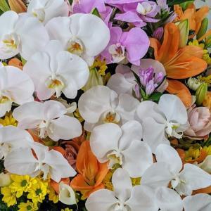 3段構えのお花