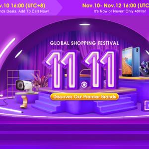 Banggoodの11.11スーパーセールが本日より開始!セール特価品や特価予約などもスタート!