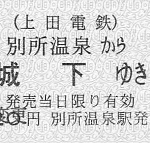上田電鉄 城下駅と7200系