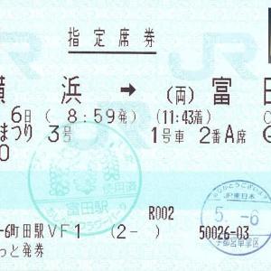 両毛線 富田駅使用済み印