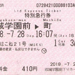 小田急ロマンスカー 特急券あれこれ