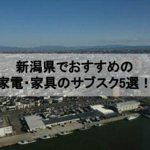 新潟県でおすすめの家電・家具サブスク6選!