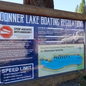 旦那とDonner Lake(ドナー湖)を訪れる