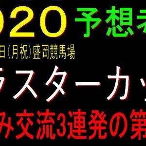 クラスターカップ2020予想(盛岡競馬) ショームに【3.0.0.2】のデータ!?