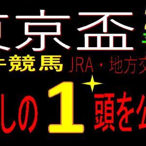 東京盃2020(大井競馬)予想|過去3年【3.3.3.5】の激推し1頭は対抗にしました