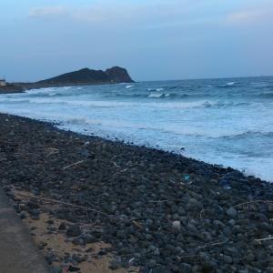 糸島半島へリベンジは大荒れ