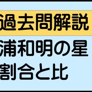 割合と比(浦和明の星女子中学 2019年)