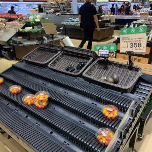 東京のスーパーは空っぽでした