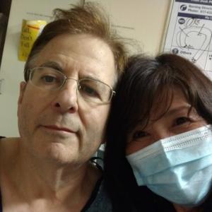手術前夜の夫と