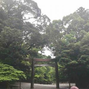 伊勢神宮に虹が!