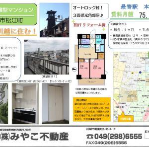 【不動産物件のご紹介】毎日が観光気分 2DK分譲型マンション 賃貸物件