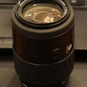 MINOLTA AF ZOOM 70-210mm F3.5-4.5  「茶筒」の後継レンズ