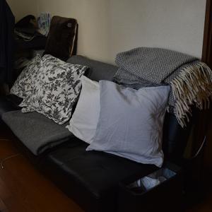 リビングのソファベッドを処分しました