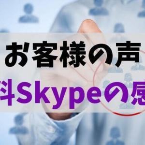 お客様の声(Skype通話)