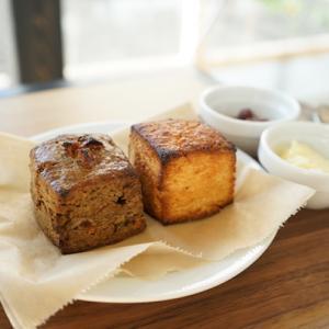 東陽町カフェ:cafe cour(カフェ クール)|ほうじ茶とハニーソルトのスコーン