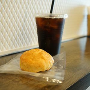 北参道カフェ:MOON DOG スコットランドスコーン、アイスコーヒー