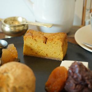 歩粉 京都・北大路|デザートSセット2020.09 かぼちゃと黒糖のチーズケーキ