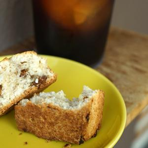 代官山カフェ:クリームパンドベイカーズ いちじくココナッツスコーン&アイスコーヒー