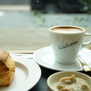 御徒町カフェ:welcome coffee|最初で最後? マロンペースト&プレーンスコーン
